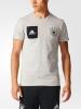 T-shirt leisure TEE STAFF Germany Grey Original adidas Men 2017