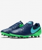 Nike Football boots Shoes Original Genio II Leather FG navy Man