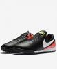 Football boots Shoes Original Nike Genio II Leather Turf Man 2017 black orange