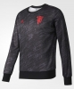 Sweatshirt sports Manchester United Black Special Season Pes Original adidas Men 2017