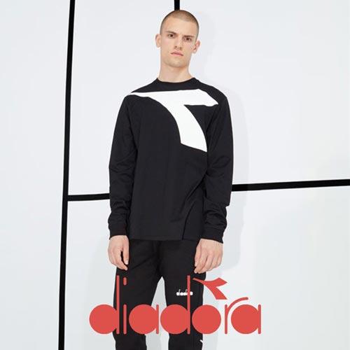 Abbigliamento sportswear diadora felpe tute sportive 2021