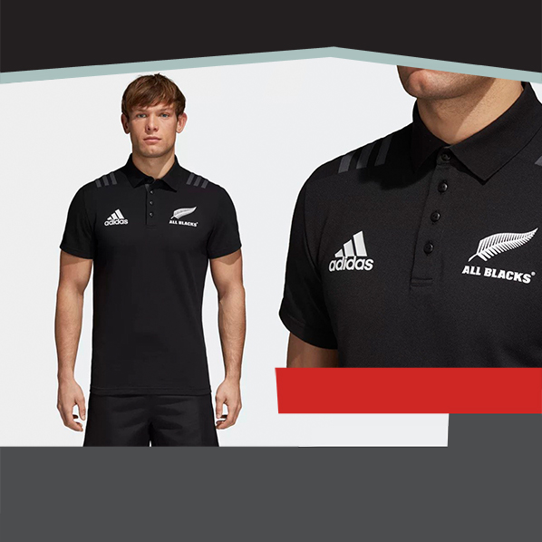 Polo shirt All Blacks Nuova zelanda Rugby Adidas cotone