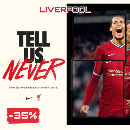 Sconti saldi Black Friday 2020 Liverpool Nike