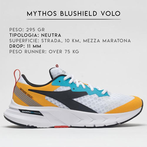 Scarpe Sneakers Diadora running Mythos blushield 2021