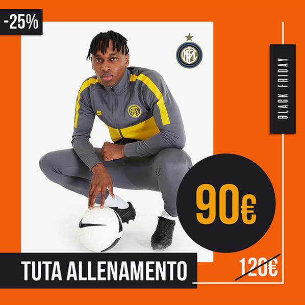 Black Friday 2019 tuta allenamento Inter