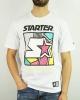 T-Shirt Leisure STARTER GRAPHIC Cotton Man WHITE