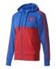 Manchester United Adidas 3 stripes hoodie Giacca Felpa Sportiva tempo libero