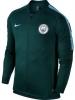 Manchester City Nike Giacca Allenamento Training Verde Dry Squad 2017 18