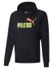 Sweatshirt Hooded pullover Puma ESS Col FL BIg Logo Cotton man Black