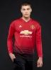 Manchester United Adidas Maglia Calcio maniche lunghe Rosso 2018 19 Home