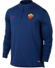 As Roma Nike Drill Top Felpa Allenamento Training Sweatshirt Blu 2017 18