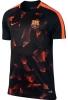 Barcellona Nike Maglia Allenamento Training Nero 2017 18 Pre match Dry Top