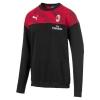 Sweatshirt top AC MILAN Puma Casual Sweat Crew man cotton 2019 20 Black