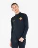 Training Sweatshirt AS ROMA Nike Drill Top Half zip Men\'s  2019 20 Blue Original