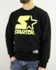 STARTER Crewneck Sports Sweatshirt Cotton Pullover Men Black Yellow Lime