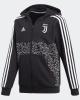 Juventus Adidas Giacca Felpa sportiva 2019 Bambino ragazzo Nero Cotone