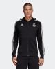 Sport Sweatshirt Jacke REAL MADRID adidas Hoodie 3 Streifen Full Zip Original Herren 2018 19 Schwarz