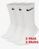 Everyday Nike Calze Calzini Calzettoni Socks Unisex Bianco Cotone