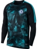 Chelsea Nike Maglia Allenamento maniche lunghe pre match Dry Top Squad Nero