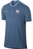 Manchester City Nike Polo Maglia Shirt Blu 2017 18 Cotone Authentic Grand Slam