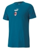 T-Shirt leisure AC MILAN Puma FTBL CULTURE II cotton short sleeves men 2020 21 blue