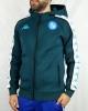Pre Match Napoli Kappa ALVENOD 3 EURO UEFA Fleece Men\'s Jacket 2020 21 GREEN