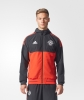Manchester United Adidas Giacca rappresentanza Pres jacket Uefa 2017 18 Rosso