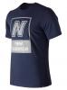 New Balance Essentials N BOX T Maglia maglietta T-shirt Blu Cotone