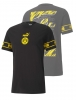 T-shirt Leisure Borussia Dortmund BVB Puma FTBL CULTURE cotton short sleeves man 2020 21 Black