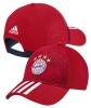 Bayern Monaco Adidas Cappello Berretto tg Unisex Rosso 3 Stripes 2018 19 Cotone