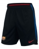Barcellona Nike Pantaloncini Shorts Nero 2017 18 Dry Training Uomo TASCHE a ZIP