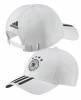 Germania Germany Adidas Cappello Berretto Unisex Bianco 3 stripes cotone