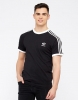 T-Shirt T-Shirt Freizeit adidas ORIGINALS TREFOIL 3 STRIPES Baumwolle Schwarze Herren kurze Ärmel