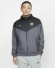 FC Barcelona Sportjacke Nike Authentic Windrunner Sportswear 2019 20 Herren Grau