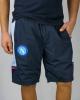 SSC Napoli Kappa Pantaloncini Shorts Uomo Blu ALIZIP 4 passeggio tasche con zip