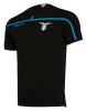 SS Lazio Macron Maglia Maglietta T-shirt tempo libero 2018 19 Nero Cotone