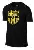 T-Shirts Crest leisure Barcelona Black Original Nike Man 2016 17