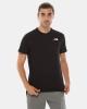 T-shirt maglia maglietta UOMO The North Face Nero Red Box Cotone