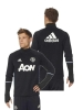 Top Manchester United Adidas Felpa Allenamento Training Sweatshirt Nero 2016 17