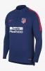 Atletico Madrid Nike Felpa Allenamento Training Sweatshirt Blu Mezza zip