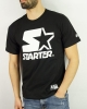 T-Shirt Leisure STARTER Cotton Man BLACK WHITE