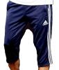 Adidas Pantaloncini Pinocchietti Shorts 3/4 Pants tango con TASCHE a ZIP