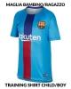 Trainingsshirt FC Barcelona Dry vor dem Spiel Boy Kid blue 2019 mit kurzen Ärmeln