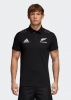 All Blacks New Zealand Adidas Polo Maglia maniche corte Nero 2018 19 Cotone
