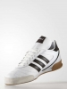 Football boots Shoes Adidas Original Kaiser Goal Indoor IC Genuine Leather white Man