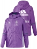 Fly Emirates Real Madrid Adidas Giacca Jacket all weather vento pioggia Viola