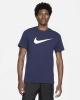 T-shirt Shirt Nike Leisure Sportswear ICON SWOOSH Man blue
