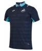 SWANSEA Joma Polo Maglia Shirt Mezza zip Blu Da viaggio 2016 17