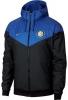 Inter fc Nike Giacca Sportiva Sport Jacket Nero Azzurro Windrunner 2018 19