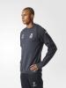 UEFA Real Madrid Adidas Felpa Allenamento Training Sweatshirt Grigio SCURO